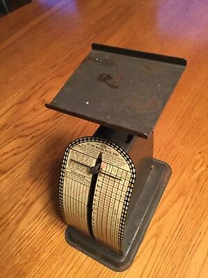 Vintage Antique I D L Deluxe Thrifty Postal Scale Up To 2.5 Oz Rates ( 1950's)