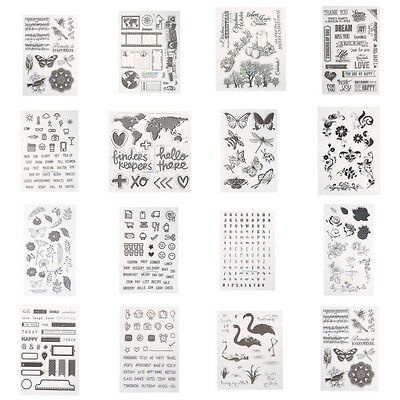 Alphabet Transparent Silicone Clear Rubber Stamp Cling Diary Scrapbooking NEW
