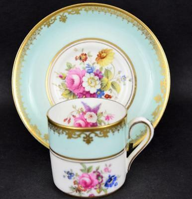 Antique Coffee Cup & Saucer F. Howards Floral Sprays ~ T Goode & Sons Hammersley