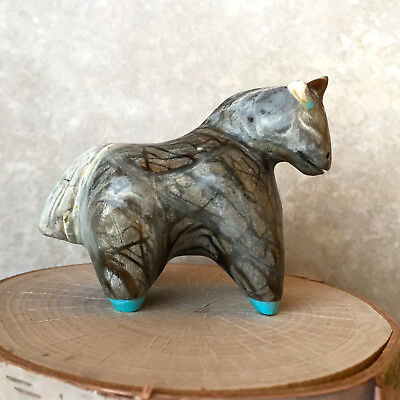 Zuni Fetish-Native American-Zuni Animal Carving - SPIRITED HORSE - Hayes Leekya