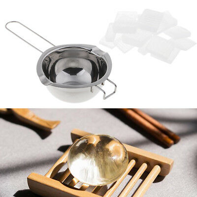 Stainless Steel Boiler Wax Melting Pot and 1kg Soap Base for DIY Candle Soap