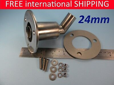 Stainless steel thru hull / exhaust skin fitting 24mm DHL 7 day delivery