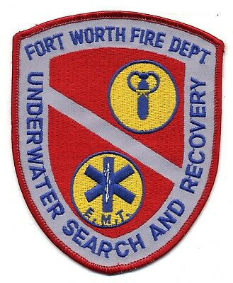 Fort Worth Texas - Scuba Unit - Dive patch - police sheriff fire
