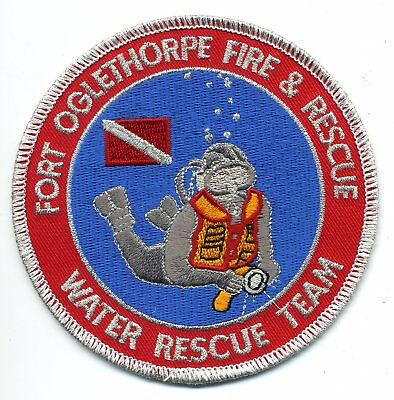 Fort Oglethorpe Georgia - Water Rescue Team - Scuba patch - police sheriff fire