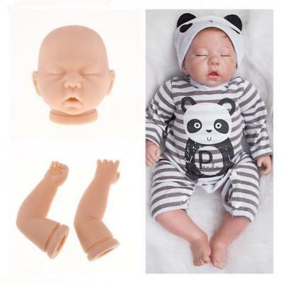 20inch Unpainted Reborn Kits Silicone Full Head Limbs Mold Blank Baby Doll