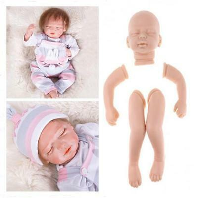 20inch Unpainted Reborn Kits Silicone Head Sculpt Limbs Mold Blank Baby Doll