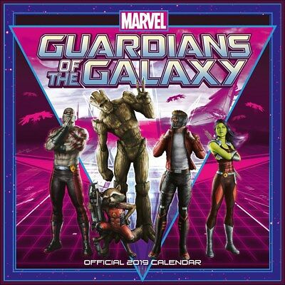 Guardians Of The Galaxy Calendar 2019 Official Square 30x30cm
