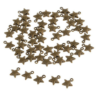 50pcs Antiqued Bronze Alloy Star Charms Pendants For Jewelry Making Findings