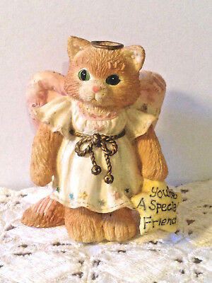 "1994 Enesco Calico Kittens Figurine ""you're A Special Friend"" #651117"