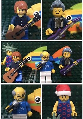 Lego Phish Set Of 4 Figures Plus Buildable Fish NY MSG Ticket Santa Poster Gift