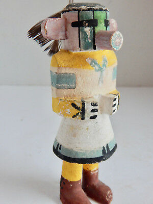 Antique Hopi Indian Kachina Doll With Feathers.