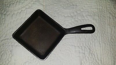 Vintage Antique Small Griswold Cast Iron #53 Square Egg Cast Iron Skillet Pan