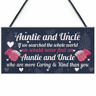 Handmade Gifts For Auntie And Uncle Sign Wooden Heart Thank