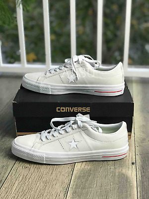 Sneakers Mens Converse One Star Pro Low Top Suede White Red