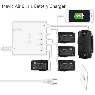 Air Battery Charger, 6-in-1 Rapid Parallel Charging Hub Accessories(White) NEW