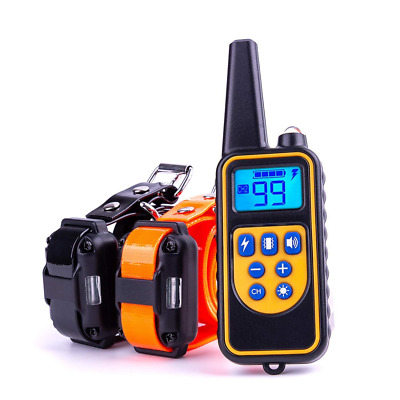 Dog Training Collar, Waterproof Rechargeable Shock Dogs, 875 Yards Remote NEW US
