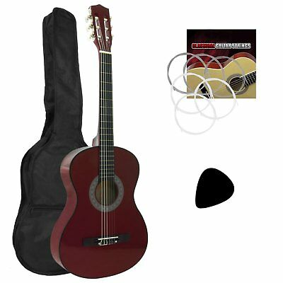 Tiger Left Handed 3/4 Red Classical Guitar Package