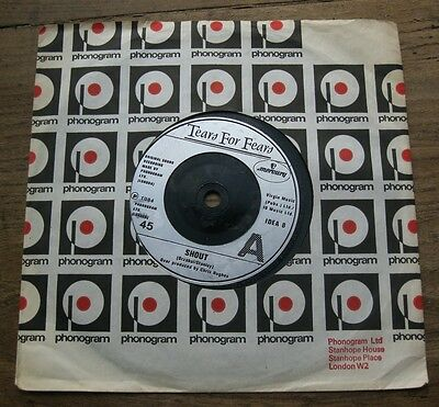 """EX  TEARS FOR FEARS - Shout / The big chair - 7"""" single EX"""
