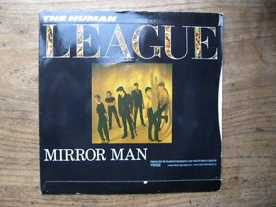 """VG+  THE HUMAN LEAGUE Mirror Man / You remind me of gold  - 7"""" single"""