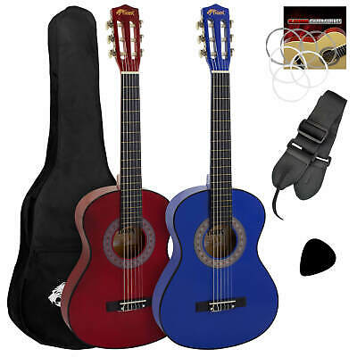 Tiger Childrens 1/2 Size Classical Guitar Package – Red & Blue