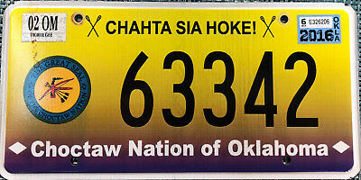 expired Oklahoma Choctaw Nation license plate