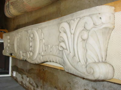 Antique Marble Mantle 19th Century White/Grey Marble French  Mantel Louis XV