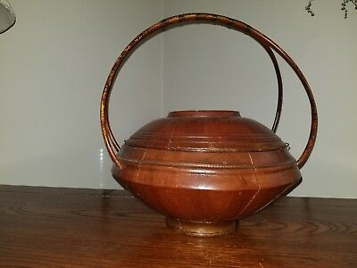 Delicate, Antique, Chinese Wedding Basket with Cane Handles