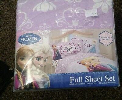 ❄️❄️New Disney's Frozen Elsa Anna Full Sheet Set bedding girls bedroom❄️❄️