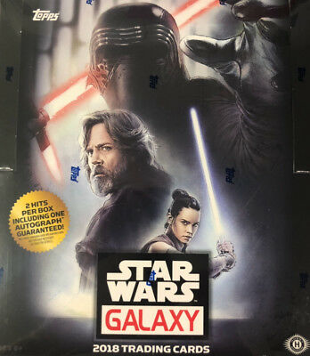 [HOBBY BOX] 2018 TOPPS STAR WARS GALAXY Factory Sealed 2 HITS w/ 1 AUTOGRAPH NEW