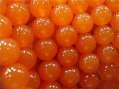 """Natural 6/8/10/12mm Rare Orange South America Topaz Round Loose Beads 15""""AAA"""
