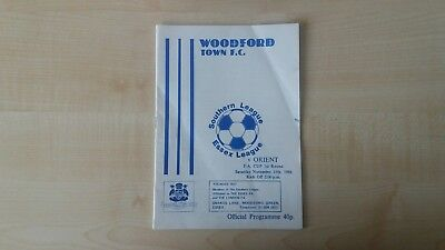 Woodford v Orient FA Cup 1986