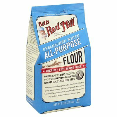 Bobs Red Mill Flour Unbleached White All Purpose Flour 5.0 Lb  Excellent Quality