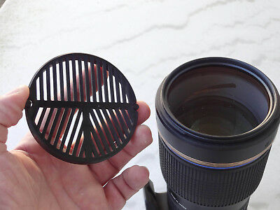 Clipsable Bahtinov mask for standard 77mm diameter Dslr lens
