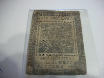 1776 Philadelphia 6 dollar  currency