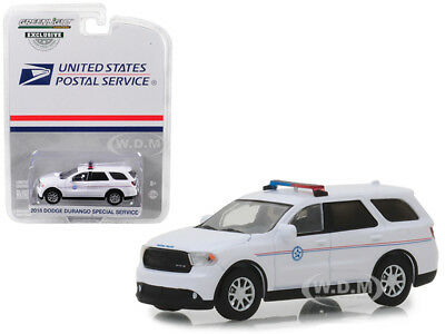 """2018 Dodge Durango Special Service """"usps"""" Police White 1/64 By Greenlight 29993"""