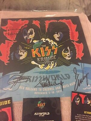 Kiss Kruise Vii Official Autographed Rare Signed Glow In The Dark Poster