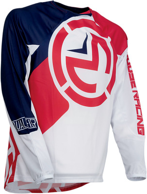 Moose Racing S19 Qualifier Jersey Size Lg Blue Red White
