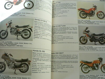 Motormagazine 1982 All Models Dutch Market In Colour Honda Cb1100R,Cbx 1000,Cx