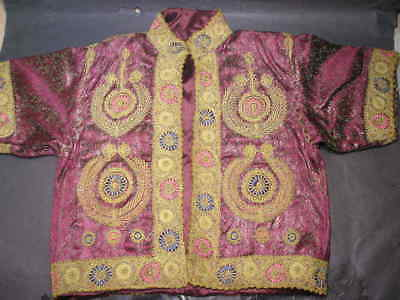 Palestinian Bethlehem Taqsireh Couched  Embroidery Ladies Silk Brocade Jacket
