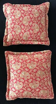 Rare SET OF 2 Vintage Antique 19th Century French Indienne Quilted Pillows
