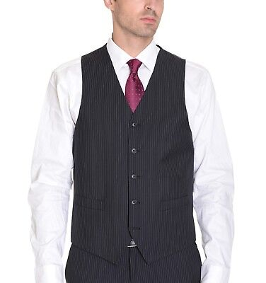 $75 Sean John Black Gray Glen Plaid Regular Fit Wool Blend Mens Suit Vest