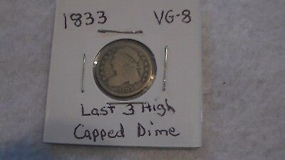 1833 Capped Dime Very good.