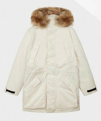 Fabulous Men's Original Insulated Parka by Hunter in Off White Size M NWT