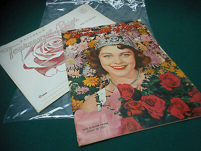 Vintage 1951 TOURNAMENT of ROSES Annual Parade Program Brochure w/ Envelope NICE