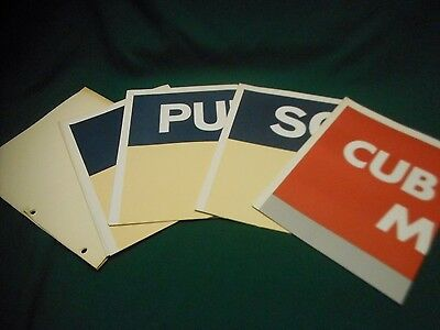 """Set of 4 Vintage Cub Boy Scouts Training Posters ~ 25"""" x 33"""" Posters #1-4 MINTY!"""