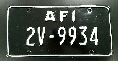 AFI Allied Forces Italy License Plate Rare Black White