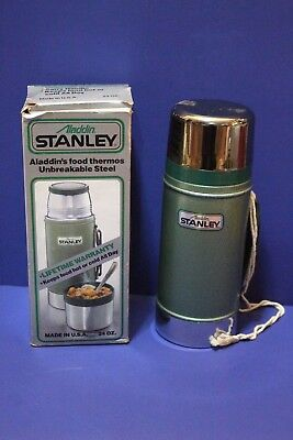 Vintage Aladdin STANLEY 24 oz. Wide Mouth Thermos #1350B Stainless Made in USA