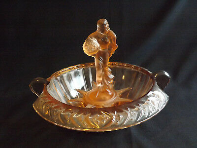 Walther Pink Depression Glass Figure; Frog & Bowl  - Clearance Sale