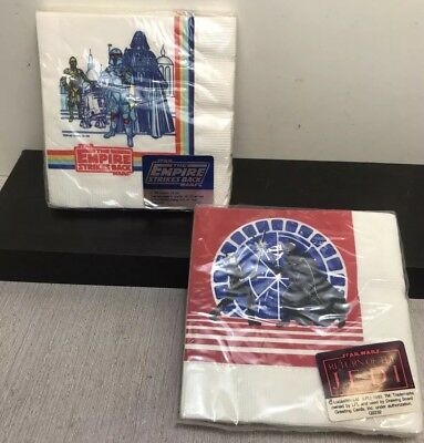 New VTG Star Wars Return of the Jedi ROTJ  ESB Empire Napkins 1983 Party x2