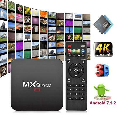 MXQ PRO Set Top TV Box UHD 4K Android 7.1 18.0 Quad Core 1+8G Media Player
